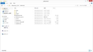zipファイルを展開した図